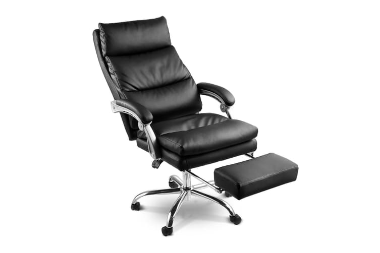 finest selection d3dda 8d3c4 Deluxe Adjustable Ergonomic PU Leather Office Chair with Footrest