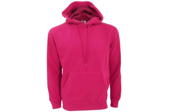 SG Mens Plain Hooded Sweatshirt Top / Hoodie (Dark Pink)