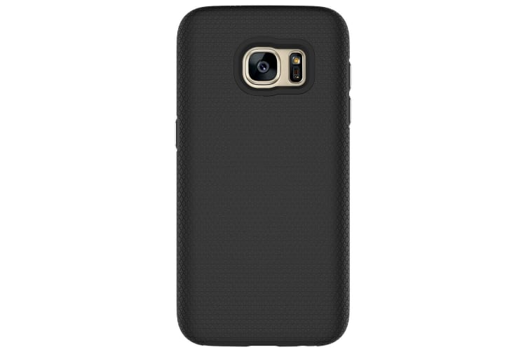 For Samsung Galaxy S7 Case  Black Armor Slim Shockproof Protective Phone Cover
