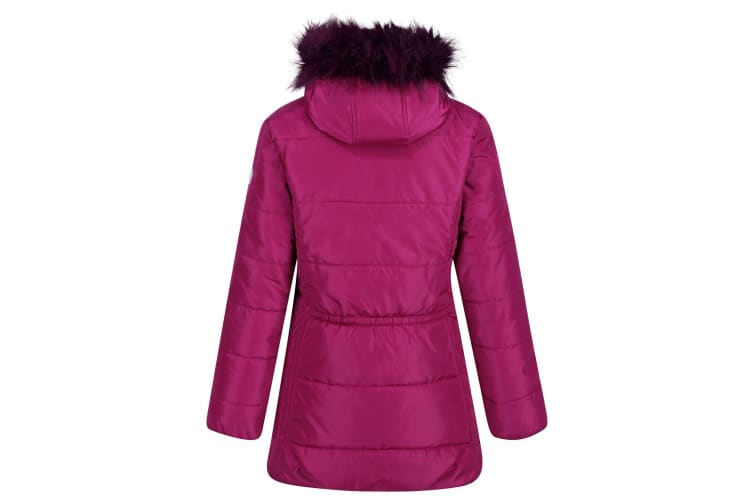 Regatta Childrens/Kids Bluebelle Quilted Hooded Jacket (Beetroot) (3-4 Years)