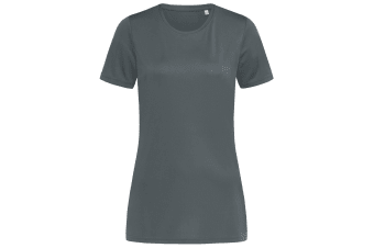 Stedman Womens/Ladies Active Sports Tee (Granite Grey) (L)