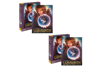2x Aquarius Jim Henson's Labyrinth 500pc Jigsaw Puzzle Kids/Teen/Adult 14y+ Toys