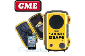 GME SOUND SAFE BOUYANT WATERPROOF CASE IPHONE IPOD MONEY CREDIT CARDS BOAT YELLO