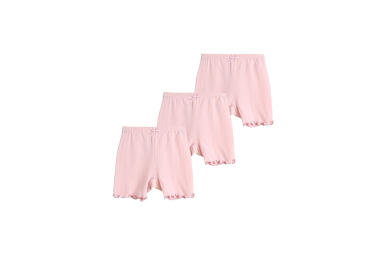 3Pcs Dance Shorts Safety Pants Breathable Bike Shorts For Girls - Pink Pink 150Cm