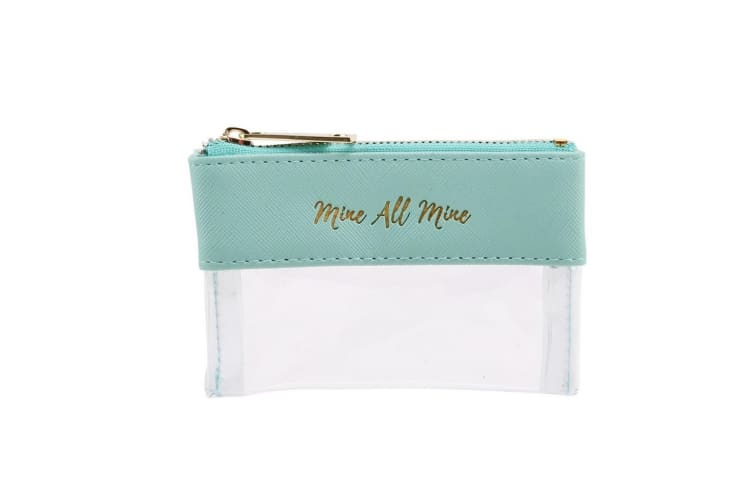 Willow & Rose Mine All Mine Purse (Teal/White) (8 x 11.5 x 1.5cm)