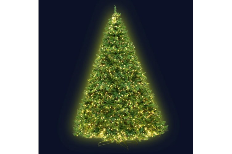 2.4M 8FT Christmas Tree 1488 LED Pre Lights Decorations Warm White