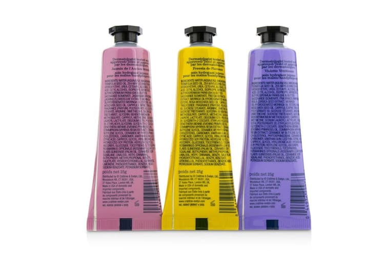 Crabtree & Evelyn Heritage Hand Therapy Set (1x Old World Jasmine, 1x Florentine Freesia, 1x Venitian Violet) 3x25g