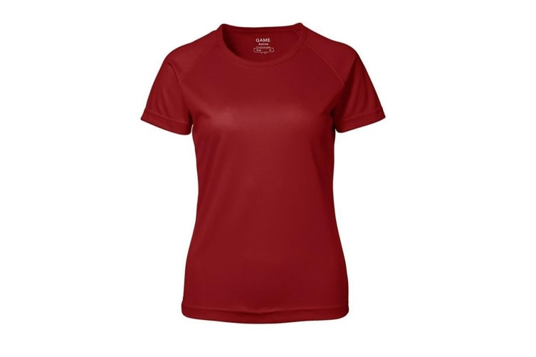 ID Womens/Ladies Game Active Short Sleeve Fitted T-Shirt (Red) (3XL)
