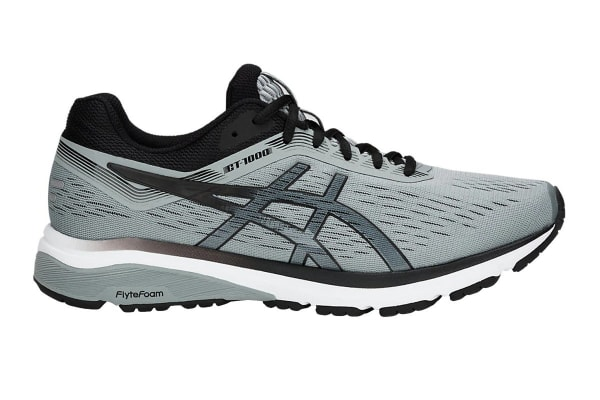 ASICS Men's GT-1000 7 Running Shoe (Stone Grey/Black, Size 7)