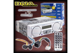 DNA MECHLESS MARINE AM/FM RADIO IPOD MP3 WITH BUILT IN SPEAKERS 12V VOLT NEW MA6