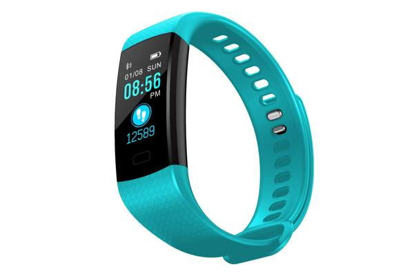 "TODO Bluetooth V4.0 Fitness Band Watch Heart Rate Blood Oxygen Ip67 0.96"" Oled - Black"