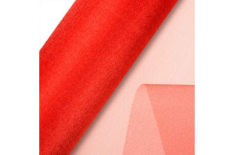 Club Green Organza 10 Metre Snow Sheer Roll (Red)