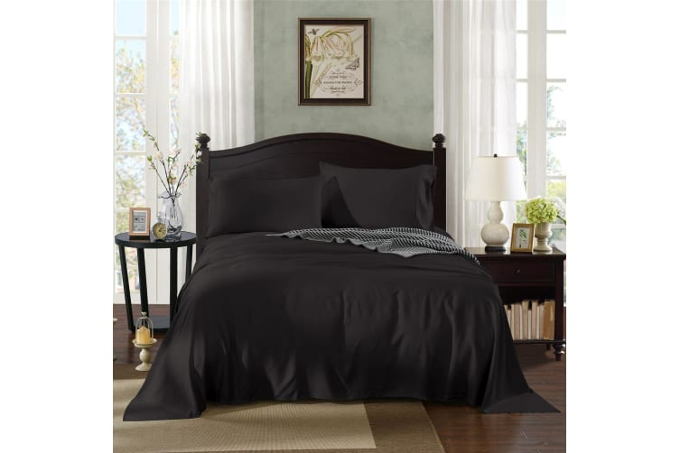 Royal Comfort 100% Bamboo Cotton 3 Piece Bedding Sheet Set Single Bed - Graphite