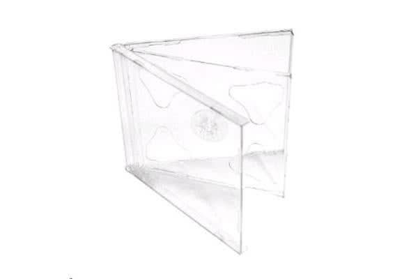 Imatech Double CD Jewel Case Clear Cover with Clear Tray