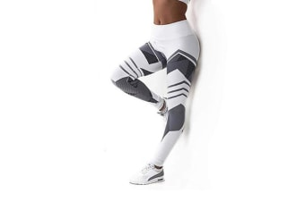 Women'S Hot Leggings Digital Print Ice And Snow Fitness Sexy Legging White M
