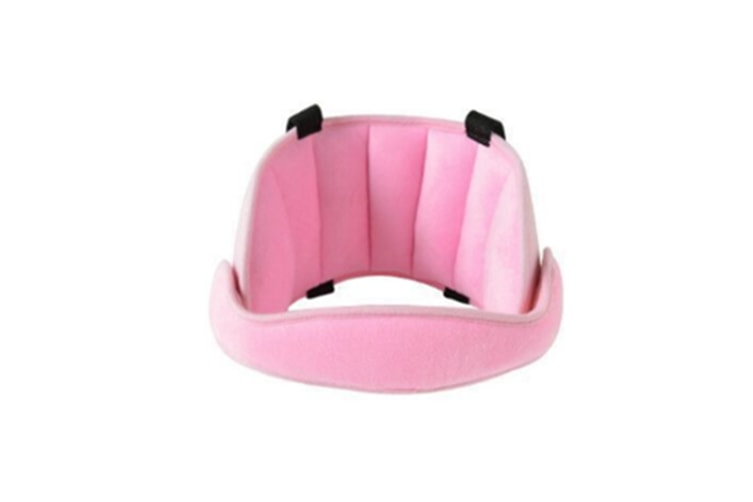 Comfortable Safe Neck Relief Head Protector Belt Baby Sleep Aid Strap - Pink Pink