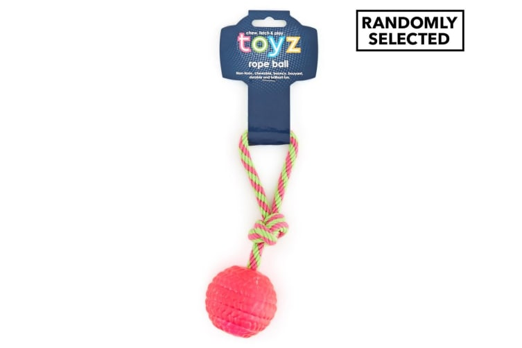 Toyz Chew Rope Ball - Assorted Colour Randomly Selected