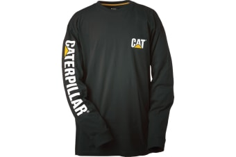 Caterpillar Trademark Banner L/S Tee / Mens T-Shirts / Tee Shirts (Black)