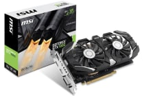 MSI NVIDIA GTX 1060 3GT OCV2 Video Card - GDDR5 DP/HDMI/DVI SLI VR Ready 1544/1759MHz