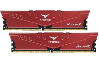 Team Group VULCAN Z DDR4 GAMING MEMORY DIMM 32GB (2x16GB) 3000MHz Red