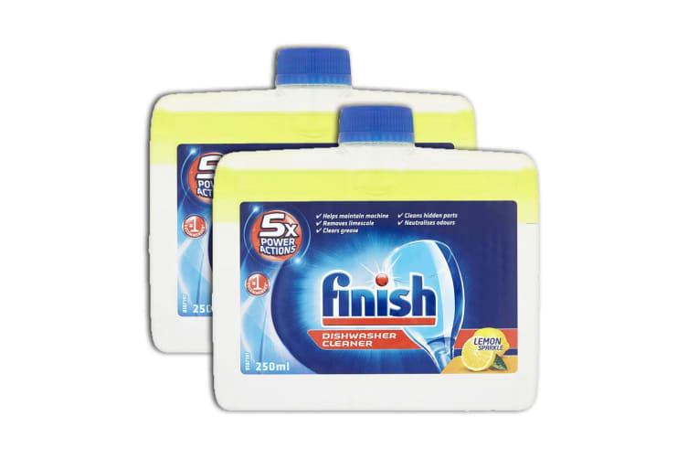 2PK Finish Dishwasher Monthly Cleaner/Remove Grease/Limescale Lemon Sparkle