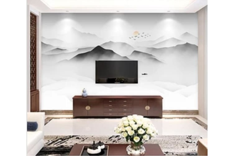 3D Misty Valley 547 Wall Murals Self-adhesive Vinyl, XL 208cm x 146cm (WxH)(82''x58'')