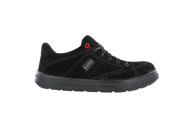 Grafters Mens Skate Type Toe Cap Safety Trainers (Black) (5 UK)