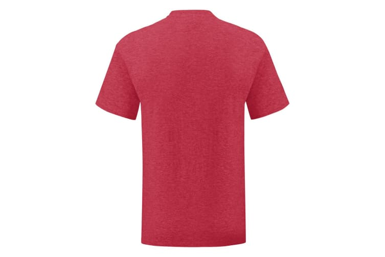 Fruit Of The Loom Mens Iconic T-Shirt (Heather Red) (XL)