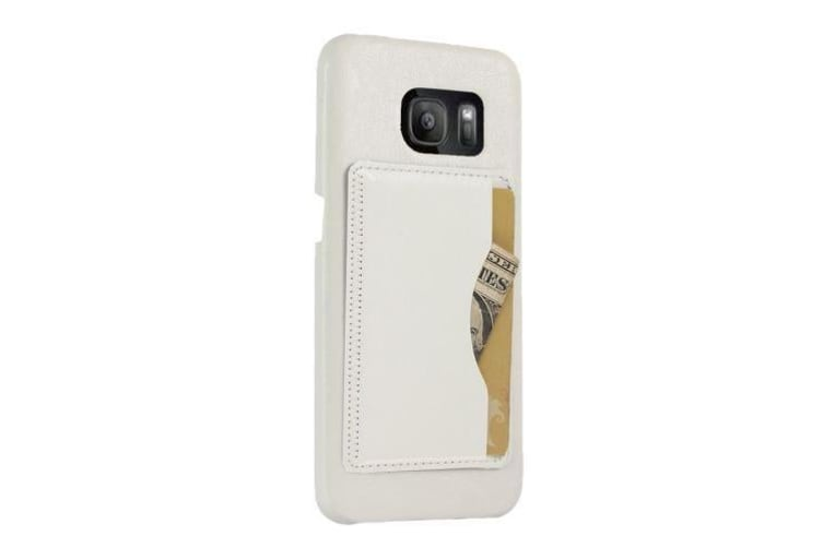For Samsung Galaxy S7 EDGE Wallet Case Modern Shell Shielding Cover White