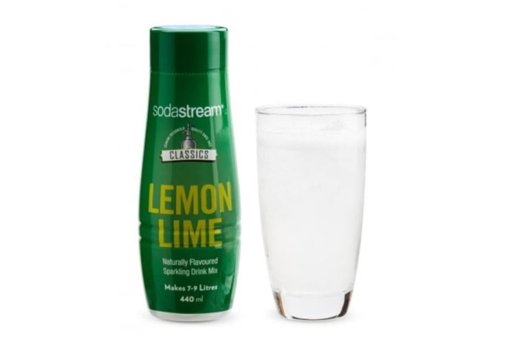 SodaStream Classics Lemon Lime 440ml Sparkling Soda Water Syrup Drink Mix- Makes 9L