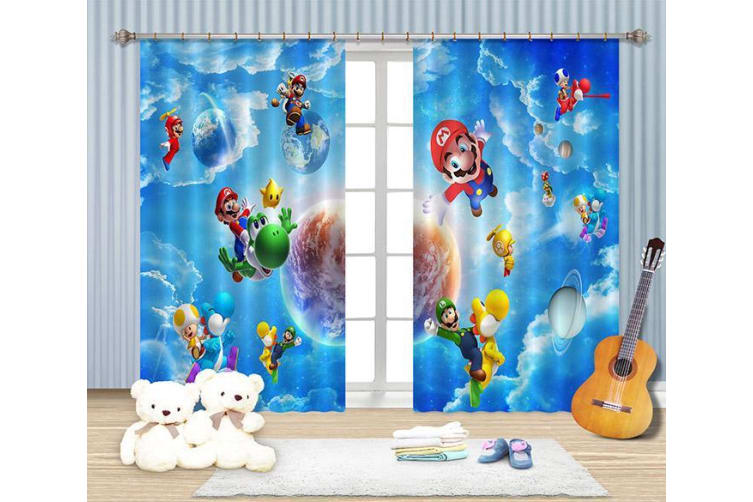 3D Blue Sky Cartoon Roles 2228 Curtains Drapes, 264cmx213cm(WxH) 104''x 83''