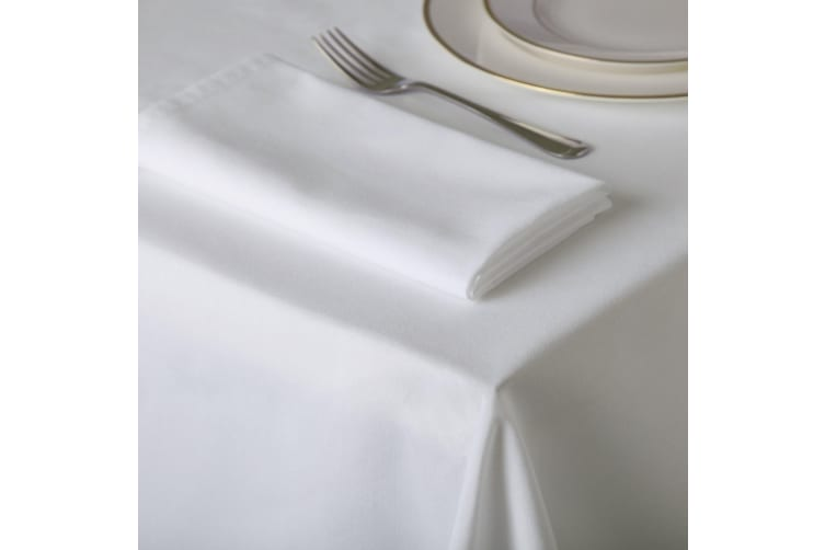 Belledorm Amalfi Rectangular Table Cloth (White) (178 x 275cm)