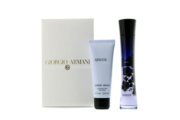 Giorgio Armani Code Femme Coffret: Eau De Parfum Spray 75ml/2.5oz + Body Lotion 75ml/2.5oz (2pcs)