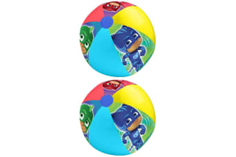 2x PJ Masks 40cm Swimming Inflatable Outdoor Party Kids Game/Toys Ball Children