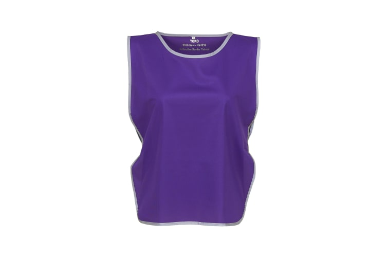 Yoko Hi Vis Reflective Border Tabard (Purple) (S/M)