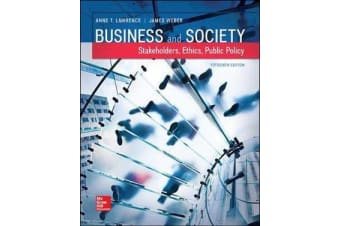 Business and Society - Stakeholders, Ethics, Public Policy