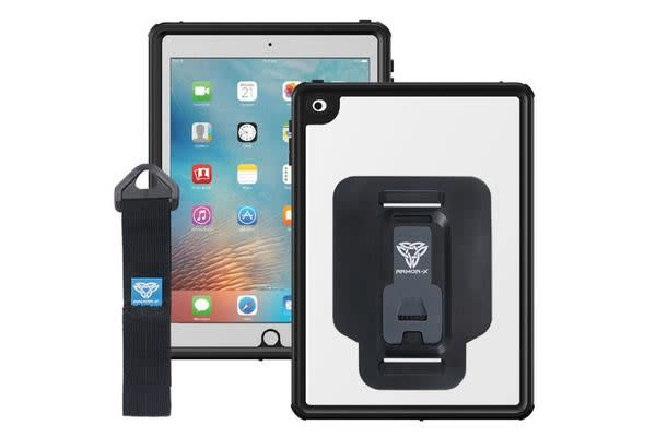 "Armor-X IP68 WaterProof  Case for iPad 9.7"" 2017  (5th Gen) Model with Hand Strap  - Black"