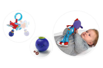 Yookidoo Pilot Baby Activity Rattle Plush Toy Play Set