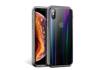 MAXSHIELD Clear Laser Heavy Duty Shockproof Slim Cover for iPhone XR