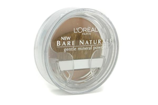 L'Oreal Bare Naturale Gentle Mineral Powder Compact with Brush - No. 418 Buff Beige (9.5g/0.33oz)