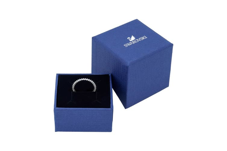 Swarovski Vittore Rhodium, Blue Crystal Ring (Size 7)