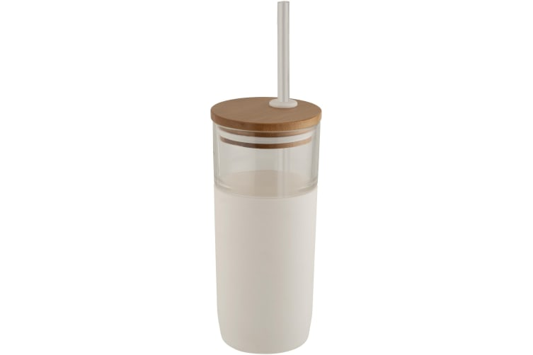 Avenue Arlo Glass Tumbler (White) (19 x 8.3 cm)