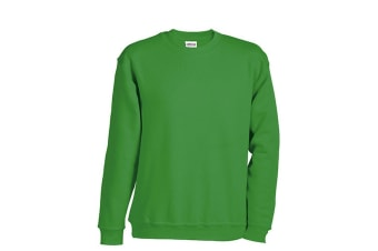 James and Nicholson Childrens/Kids Round Heavy Sweatshirt (Lime Green) (M)