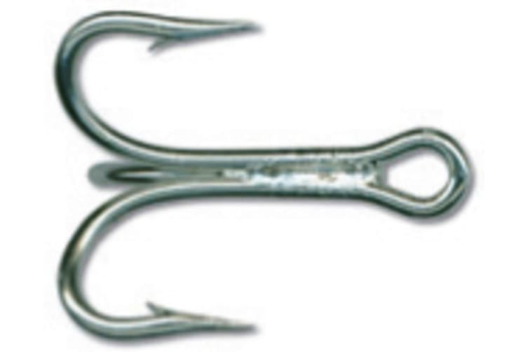 Mustad 7794ds Size 8 Qty 25 3x Strong Treble Hooks - Duratin