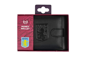 Aston Villa FC RFID Embossed Leather Wallet (Black) (One Size)