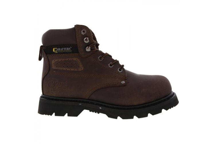 Grafters Mens Gladiator Safety Boots (Brown) (11 UK)