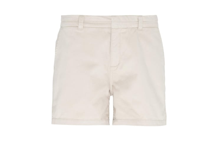 Asquith & Fox Womens/Ladies Classic Fit Shorts (Natural) (XL)