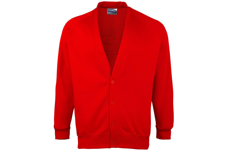 Maddins Childrens Unisex Coloursure Cardigan / Schoolwear (Red) (34)