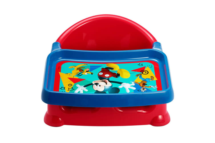 Disney Mickey 3 in 1 Baby 6m+ Booster Feeding High Seat/Chair w/Tray Blue/Red