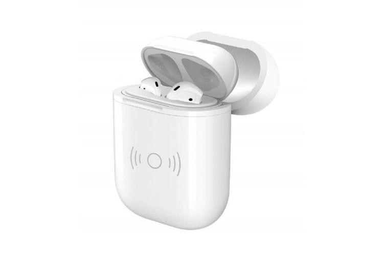 Generic Apple Airpods Qi Wireless Charger Smart Cover Case - White